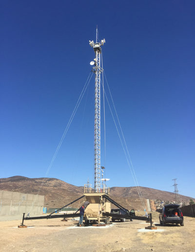 Mobile Tower with LinkAlign-60EBP-10 and ALTE